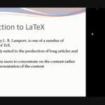 "Seminar on ""Latex"""